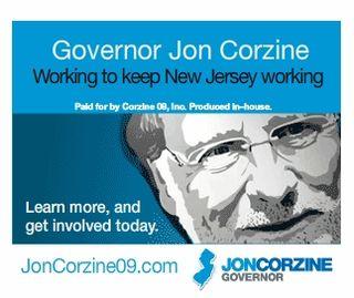 Corzine banner ad